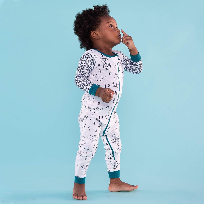 Lamaze Organic Baby Boys Stretchie One Piece Sleepwear Baby and Toddler Zipper Footless
