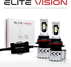 Elite Vision Advanced Automotive Accessories - Olympus LED Conversion Kit 9007 for Bright White Headlights Bulbs, Low Beams, High Beams, Fog Lights