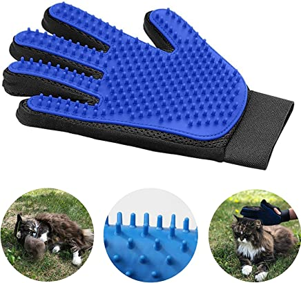 Sunrix Gentle and Smooth Pet Grooming Glove and Efficient Pet Hair Remover Mitt in Five-