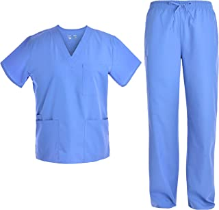 Unisex V Neck Scrubs Set Medical Uniform - Women and Man Nursing Scrubs Set Top and Pants Workwear JY1601