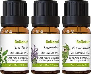 Essential Oils Set (Tea Tree, Lavender, Eucalyptus) for Skin Care, Aromatherapy, Soap Making - Organic & Pure Therapeutic ...