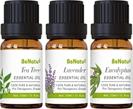 Essential Oils Set (Tea Tree, Lavender, Eucalyptus) for Skin Care, Aromatherapy, Soap Making - Organic & Pure Therapeutic ...