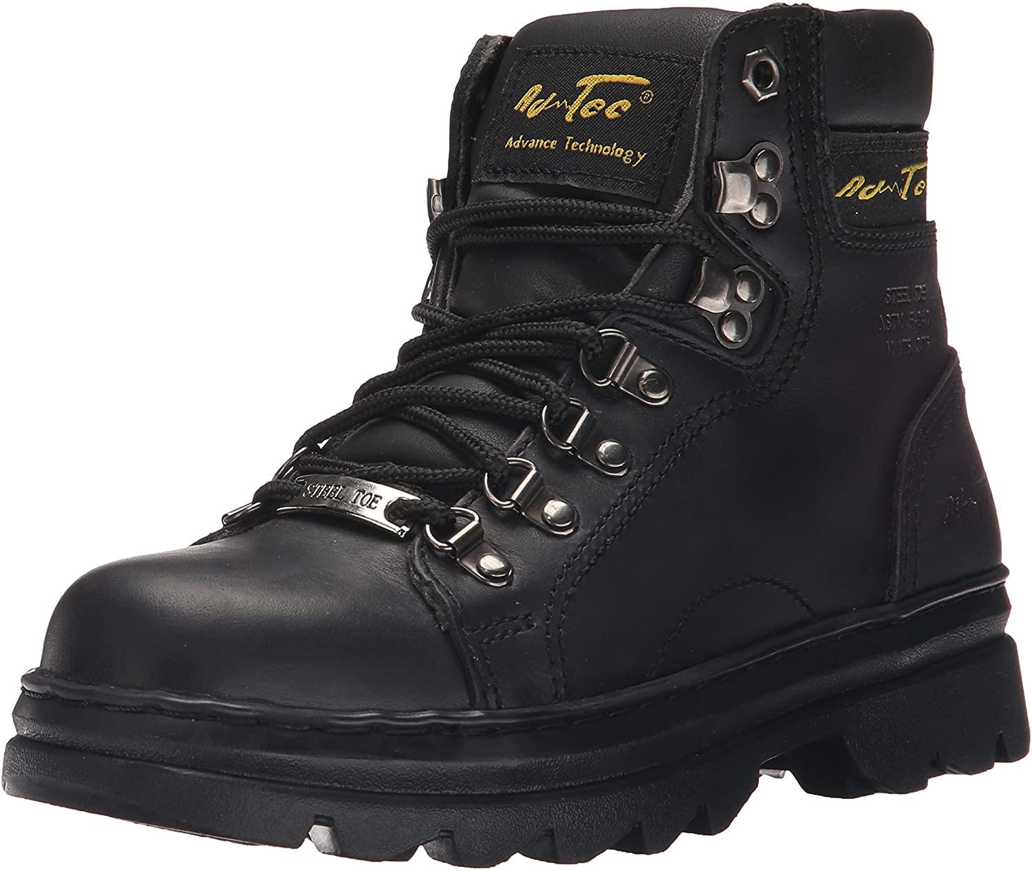 Adtec Womens Women's 6  Steel Toe Work Boot Black-w Work Boot