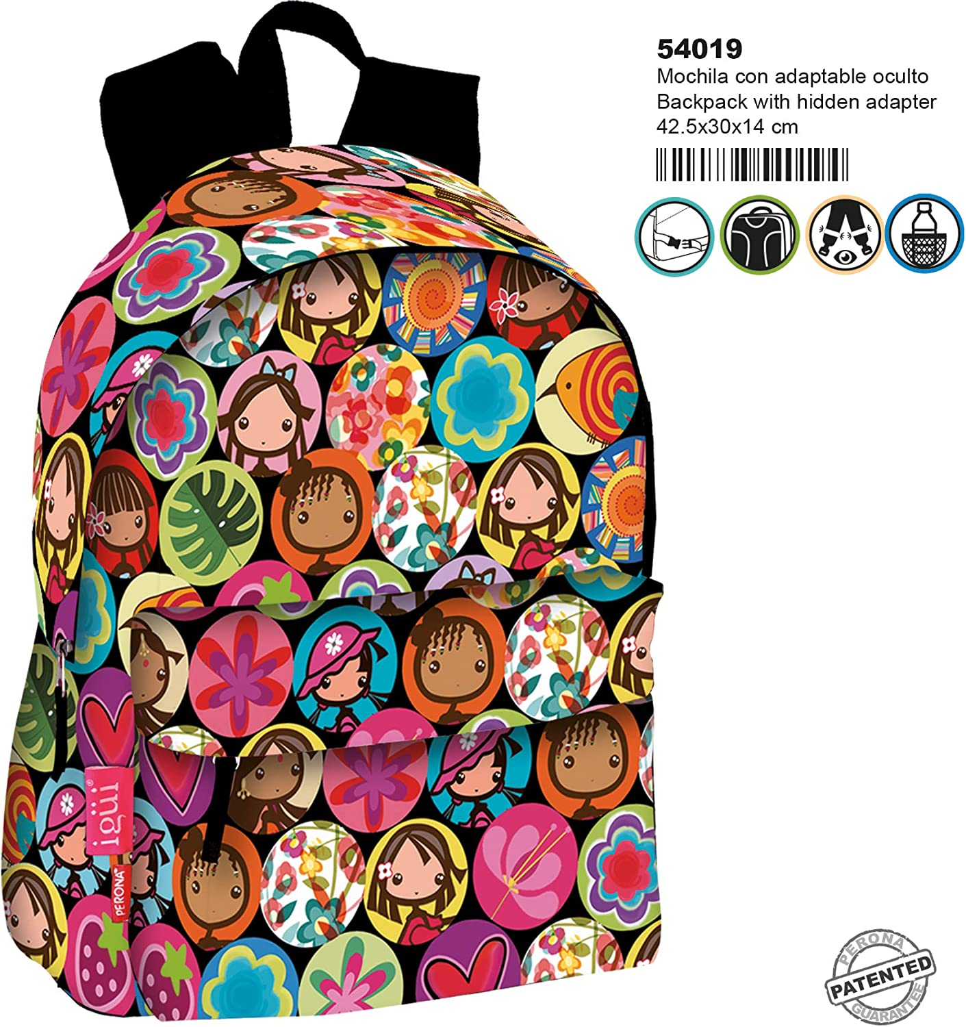 Montichelvo Backpack A.O. Ig Willow School Bag, 30 cm, Multicolour