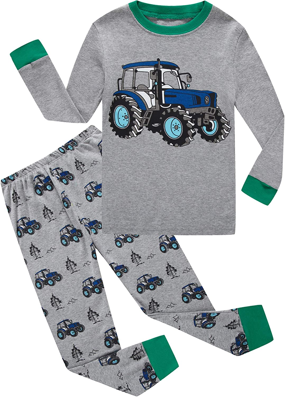 Little Boys Pajamas Dinosaur Sleepwear Space Kids Pjs