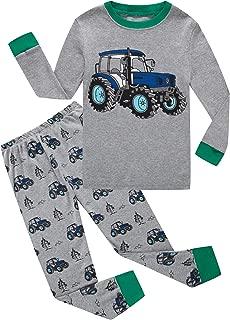 KikizYe Boys Pajamas Long Sleeve Toddler 100% Cotton Little Kids Pjs Sleepwear