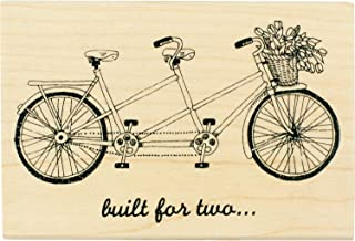 Inkadinkado ''Built for Two'' Bicycle Mounted Rubber Stamp for Card Making and Scrapbooking, 4'' x 2.75'' x 1''