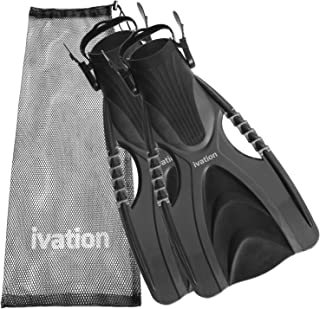 Diving Fins Swim Fins Adjustable Speed Fins Super-soft High Grade Material for Diving Snorkeling Swimming & Watersports. W...
