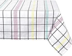 """مفرش منضدة DII سادة مصنوع بنسبة 100% من القطن الربيع طاولة تي شيرتات بدون أكمام, Color Pop Plaid, 60x84"""""""