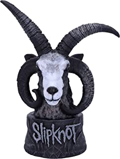 Nemesis Now Officially Licensed Slipknot Flaming Goat Bust Figurine, Black, 23cm