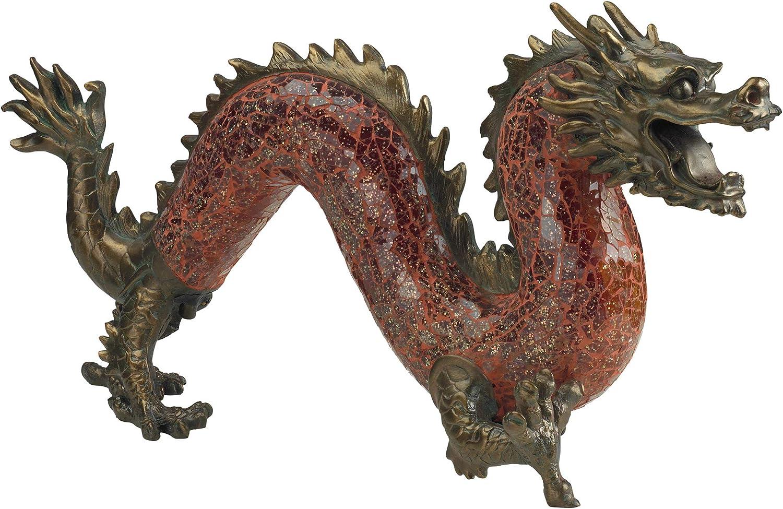 Design Toscano Dragon Dance of Mosaic Max 72% OFF Glass Sc Max 60% OFF Illuminated Light