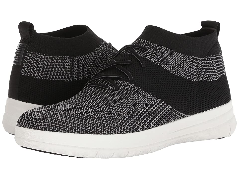 FitFlop Uberknit Slip-On High Top Sneakers (Black/Charcoal Mix) Men