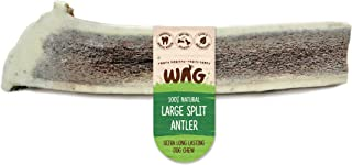 Split Large Antler 1 Pack, Natural New Zealand Long Lasting Dog Treat Chew, Perfect for Large Breeds