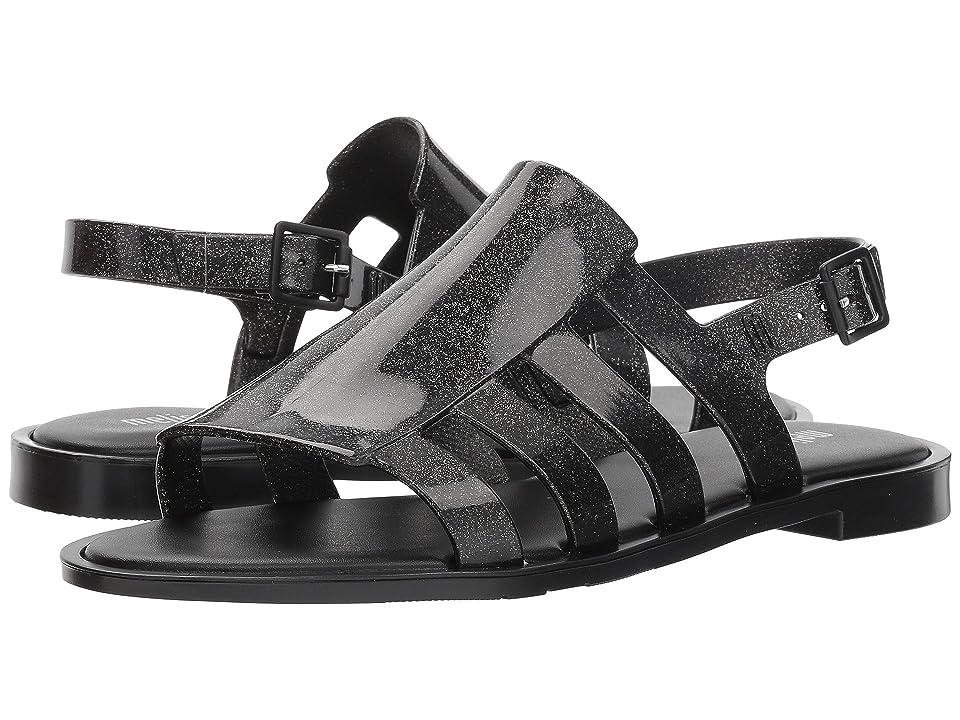 Melissa Shoes Boemia III (Black Glitter) Women