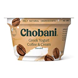 Chobani Whole Milk Greek Yogurt, Coffee & Cream Blended 5.3oz