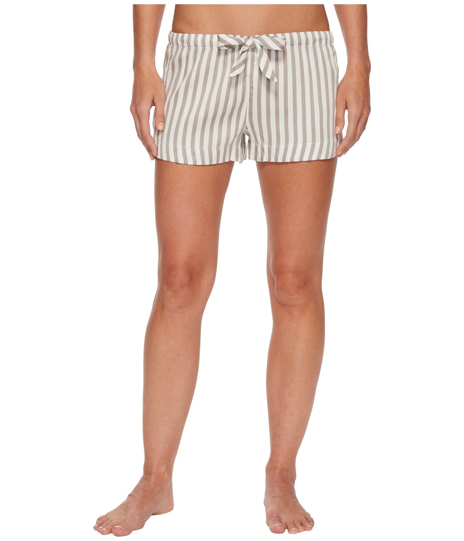 Pantalón de Pijama para Mujer P.J. Salvage Walk The Line Grey Striped Shorts  + P.J. Salvage en VeoyCompro.net