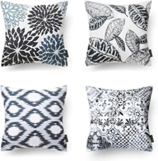 Phantoscope New Living Series Decorative Throw Pillow Case Cushion Cover Black 18