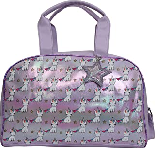 OMG Unicorns Travel Carry-on Luggage Weekender Bag Overnight Tote Flight Duffel In Trolley Handle