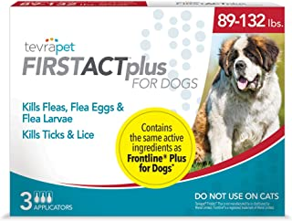 TevraPet FirstAct Plus Flea and Tick Topical for Dogs