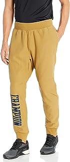 Champion LIFE Mens P4455 Vintage Wash Reverse Weave® Jogger - Satin Block Text Sweatpants - Gold - Small