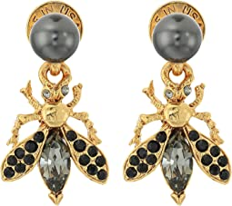 Bug Button C Earrings