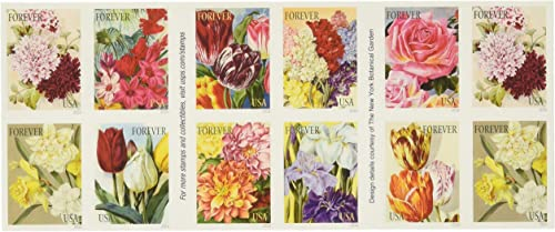 Botanical Art USPS Forever Stamps, Book of 20 - 2016 New Release by USPS