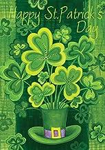 Toland Home Garden Shamrockin' 28 x 40 Inch Decorative Happy St Patrick's Day Shamrock Clover House Flag
