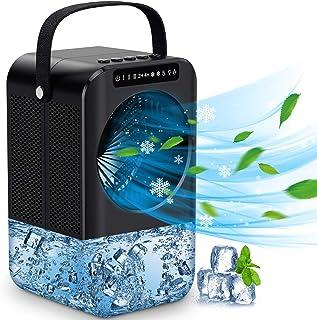 Mini Raffreddatore D'aria, 3 velocità condizionatore portatile 600ML Serbatoio Basso Rumore condizionatore portatile caldo...