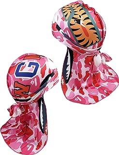 Richagga Apparel Customs Designer Durag,Deluxe Waves Wrap Do-Rag,Premium Durags for Women Mens