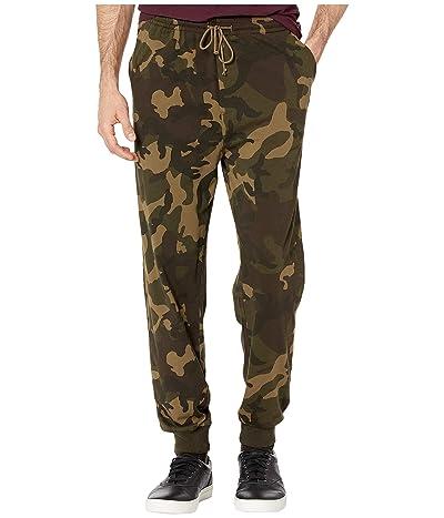 J.Crew Jama Jersey Printed Camo Pants (Olive Camo) Men