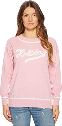 Boutique Moschino - Cotton Holiday Sweater with Side Bow Detail