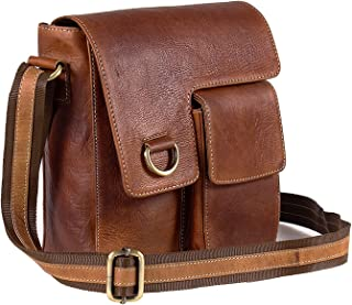 TUZECH Pure Leather Modern Styled Faded Handy Messenger Bag -Fits Laptop Upto 13.3 Inches