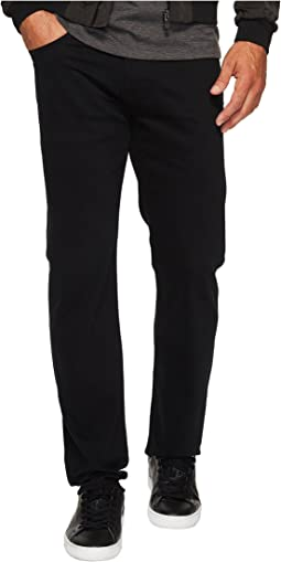 Mavi Jeans Zach Regular Rise Straight Leg in Black Williamsburg