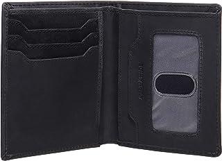 AlphaHide Men's RFID Blocking Wallet - Vertical Bifold Design - Slim Credit Card Case with ID Window - Genuine Hunter Leat...