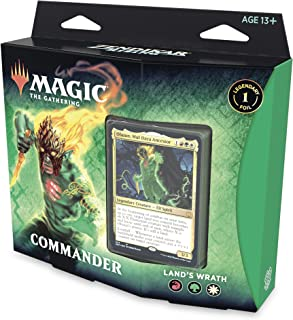 Magic: The Gathering Zendikar Rising Commander Deck – Land's Wrath | 100 Card Ready-to-Play Deck | 1 Foil Commander | Red-...