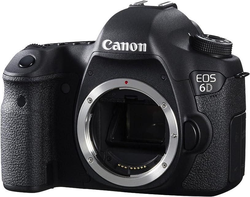 Canon EOS 6D - Cámara réflex Digital de 20.2 MP (Pantalla 3.2 vídeo Full HD GPS) Color Negro - Solo Cuerpo