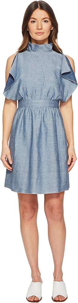 M Missoni - Denim Ruffle Dress