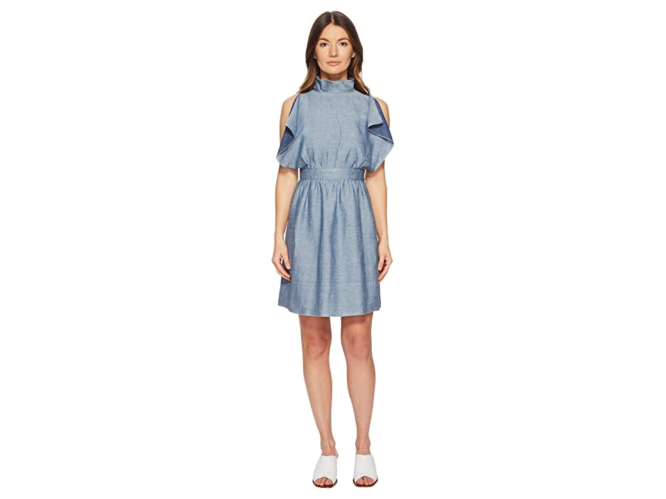 M Missoni Denim Ruffle Dress (Navy) Women