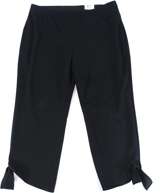 Alfani Womens Black Skinny Wear to Work Pants Size 8