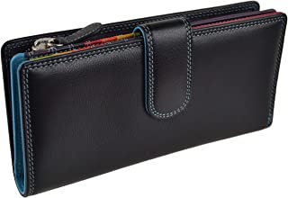 Women's Leather Tabbed Purse Wallet By ; Graffiti Gift Box Colours