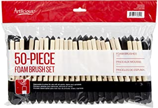 Artlicious - 1 inch Foam Paint Brush Value Pack of 50