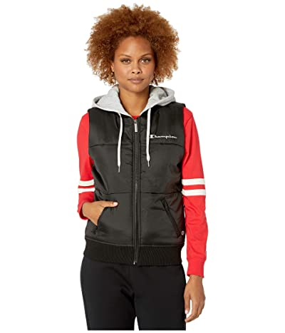 Champion Stadium Puffer Vest (Chalk White/Athletic Navy) Women
