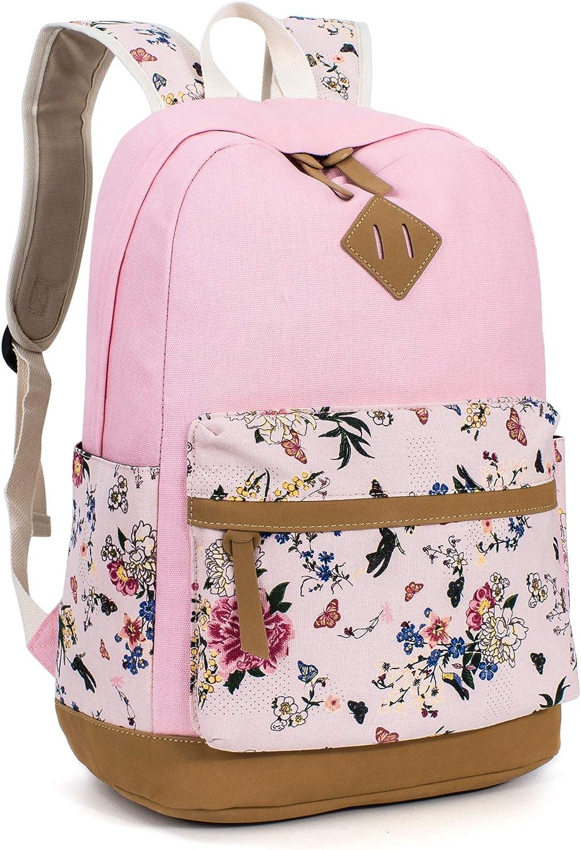 (Pink[8891])  Leaper Fashion Laptop Backpack for Women College Bookbag Shoulder Bag Daypack