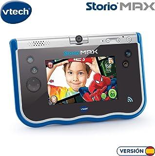VTech- Storio MAX Tablet Educativa para Niños Multifunción Pantalla Táctil de 5 Cámara Giratoria 180º Fotos y Vídeos Color Azul (3480-183822)