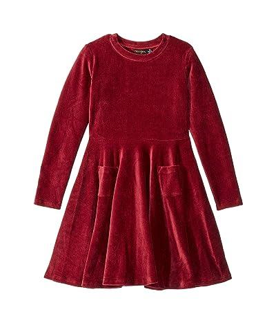 Rock Your Baby Corduroy Long Sleeve Waisted Dress (Toddler/Little Kids/Big Kids) (Burgundy) Girl