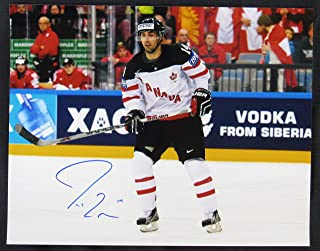 Jordan Eberle Signed Auto Autograph 11x14 Photo III