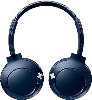 Philips on-Ear Headphones SHB3075BL/00 on-Ear Bluetooth Headphones (Bluetooth, Powerful Basses, Built-in Microphone, Adjus...