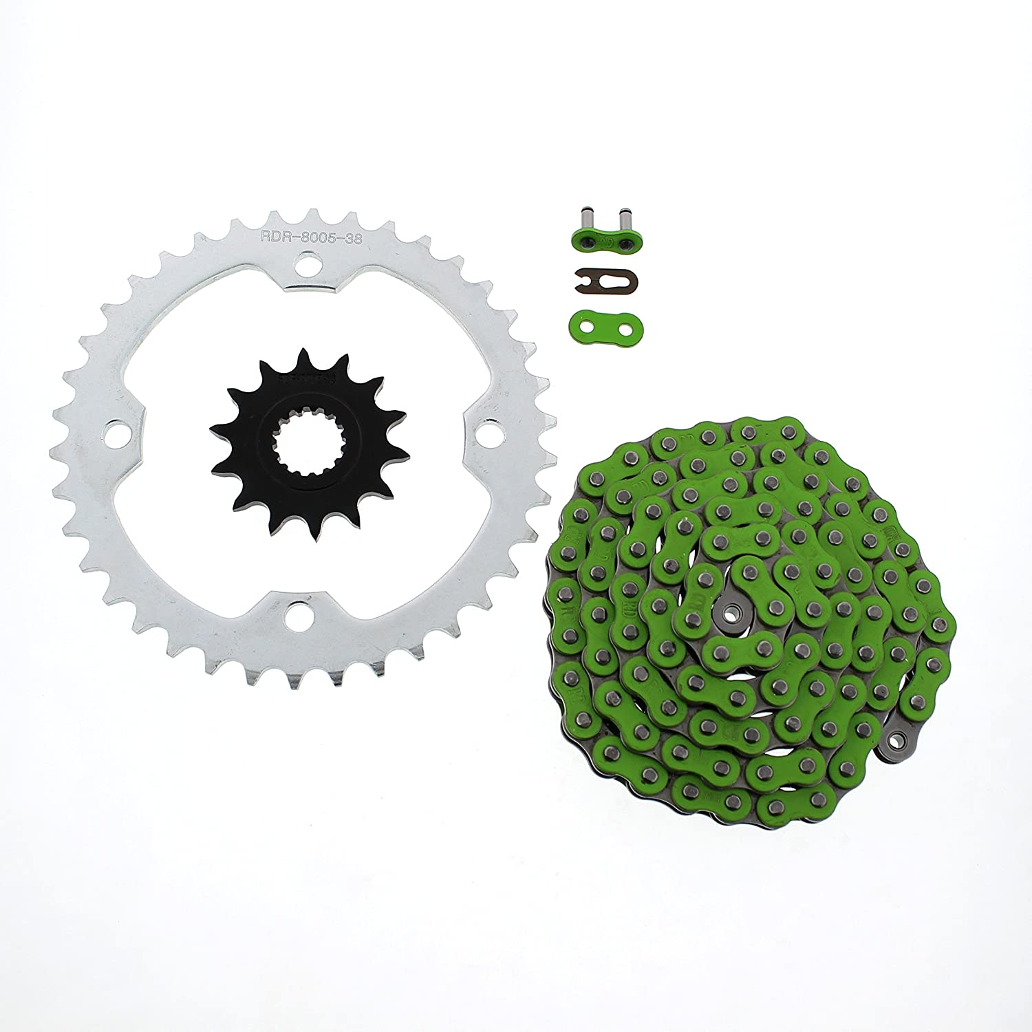 Green Non O-Ring 98L Special price for shopping a limited time Chain Silver 14 Sprocket 10-13 Yama fits 38
