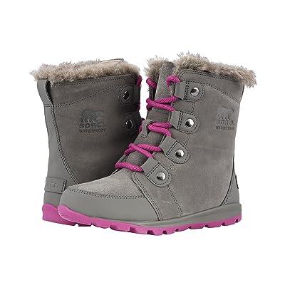 SOREL Kids Whitneytm Suede (Little Kid/Big Kid) (Quarry/Raspberry) Girls Shoes