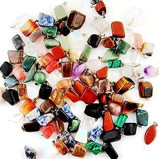 Irregular Shape Stone Pendant Healing Crystal Quartz Charms Gems Gemstone Mutil Random for Necklace Jewelry Making(30pcs)